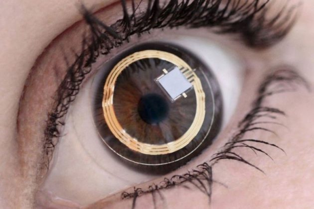 Tiny screens worn on the eyeballs