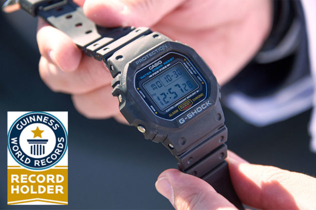 CASIO G-Shock Bags First Guinness World Records Title