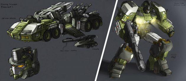 Don Figueroa's Concept Rolling Thunder Optimus Prime