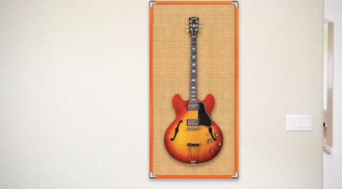 Guitar Amp That Is A Wireless Speaker And A Wall Art Is Absolutely Awesome