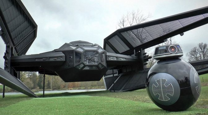 Life-size Kylo Ren TIE Fighter by Colin Furze