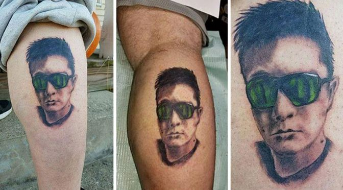 Man Tattoos Razer CEO's Face On His Leg for Free Phone