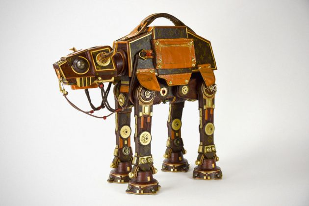 Star Wars Sculptures Made From Recycled LV Leather Goods