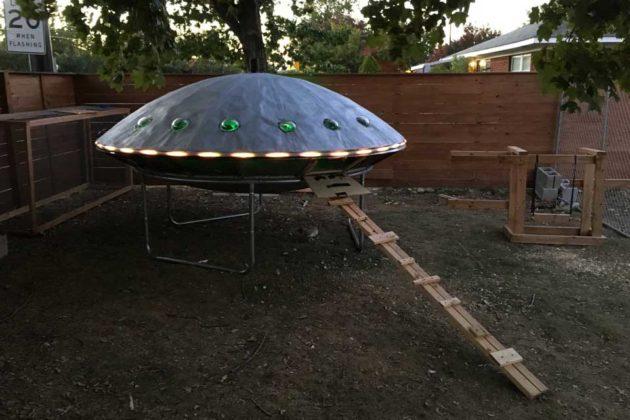 UFO Chicken Spaceship Coop by Backyard Chickens