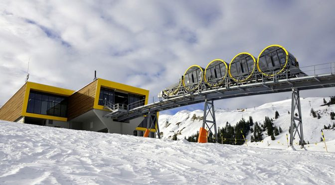 World's Steepest Funicular Railway in Stoos, Switzerland