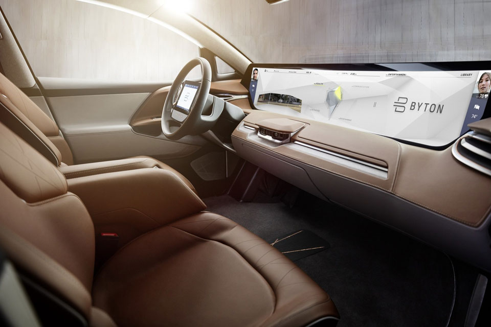 BYTON Unveiled World's First Smart Intuitive Vehicle