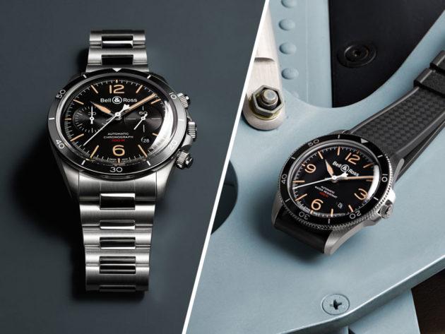 Bell & Ross Vintage BR-V2 and BR-V4 Steel Heritage Watches