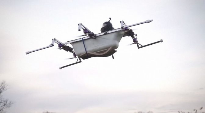 Flying Bathtub Manned Drone by The Real Life Guys