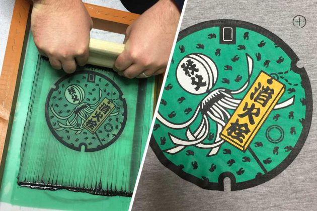 Hand-printed in Tokyo Japanese Manhole Cover T-Shirts