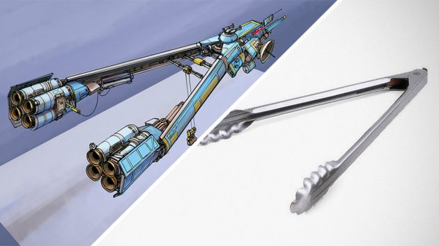 Household Objects-inspired Spaceships by Eric Geusz