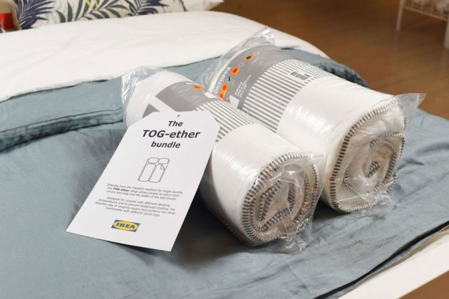 Ikea TOG-ether Bundle Dual Blankets For Couples