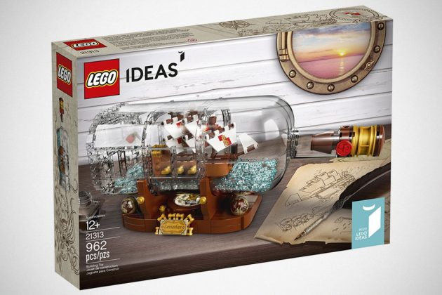 Jake Sadovich LEGO Ideas Ship in a Bottle Becomes An Official Set