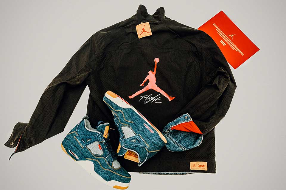 Jordan Brand x Levi's Air Jordan IV and Reversible Trucker Jacket