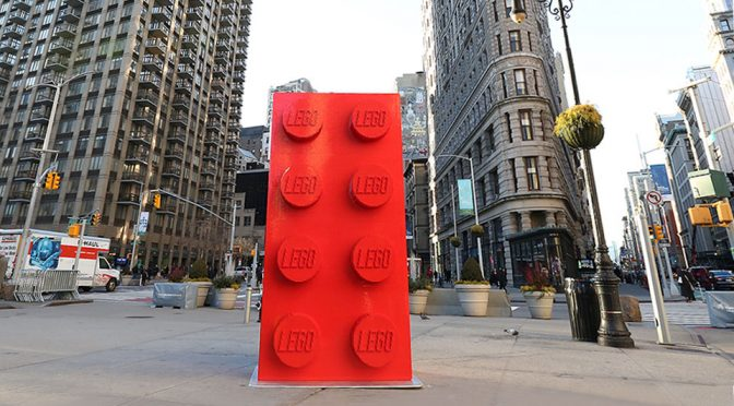 LEGO Group Marks 60 Years with 10-foot Tall LEGO Bricks