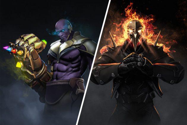 Marvel x Overwatch Mashup Character Art by Kode LGX