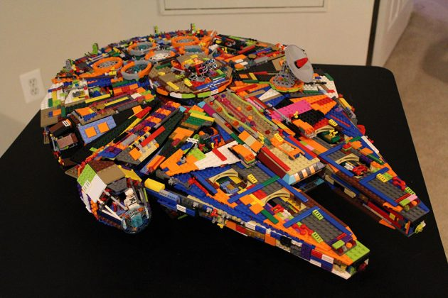 My Multicolored LEGO UCS Millennium Falcon by funkblast1