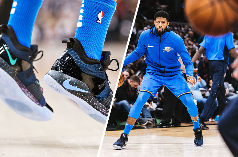 separation shoes abed6 c2234 Paul George's 2nd Nike Shoes Is Playstation-themed, Has ...
