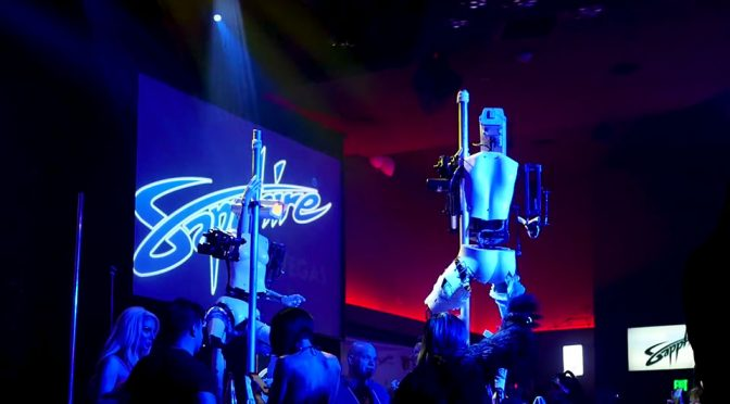 Pole Dancing Robots Hit Up Vegas Club During CES