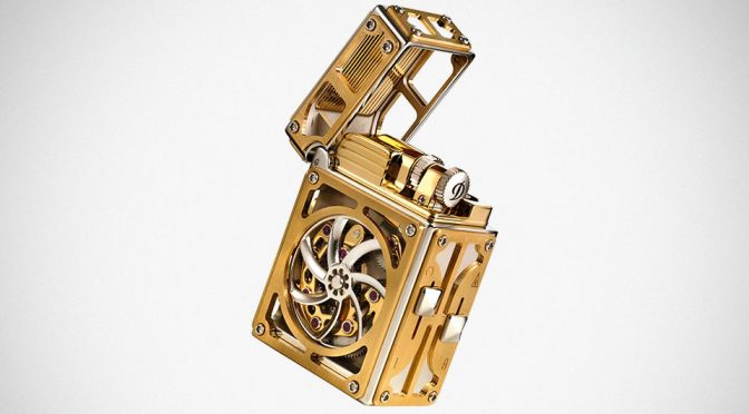 S.T. Dupont Complication Lighter in Palladium Finish