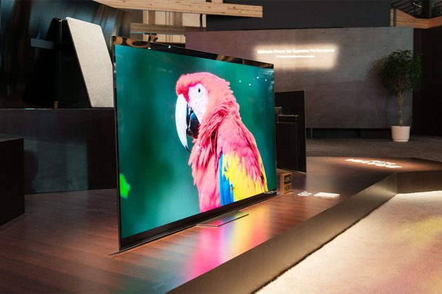 Sony A8F 4K HDR OLED TV at CES 2018