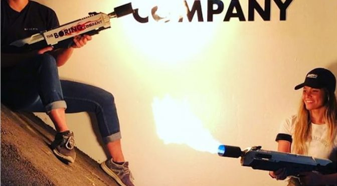 The Boring Company Flamethrower Is A Thing You Can Buy