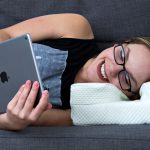 Finally, There Is A Pillow Designed For Couch-loving Folks Who Wear Glasses