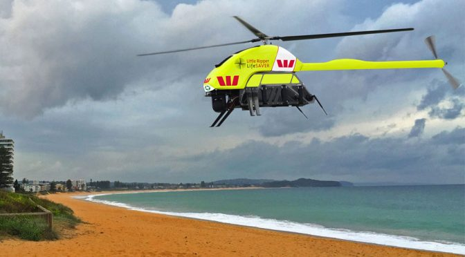 Westpac Little Ripper Helicopter Drone Saves Two Teenagers