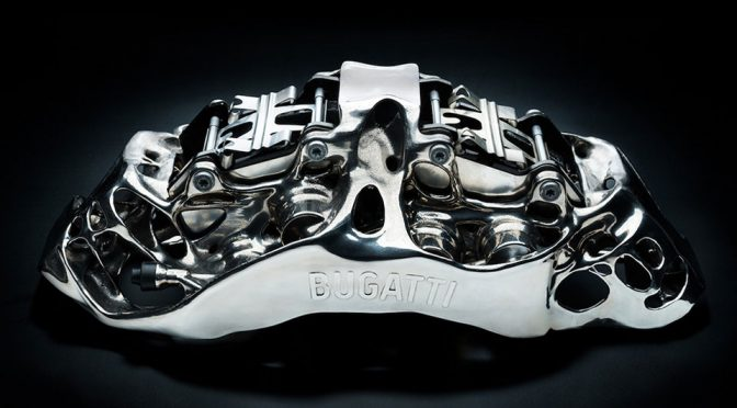 Bugatti Presents The World's First 3D Printed Titanium Brake Caliper