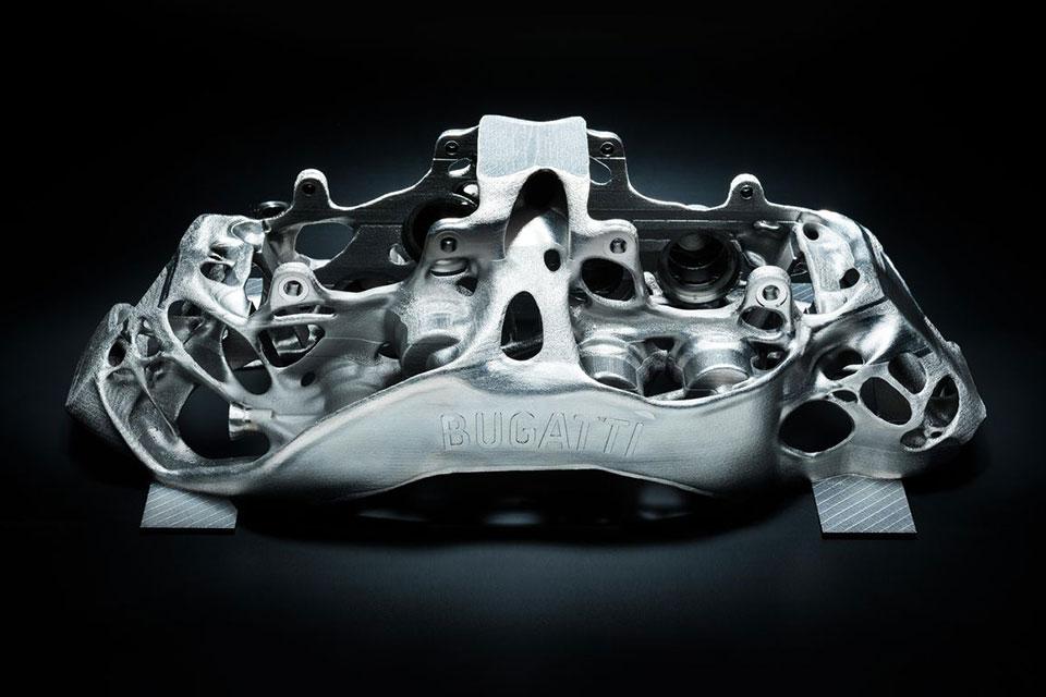World's First: Bugatti 3-D Printed Titanium Brake Caliper