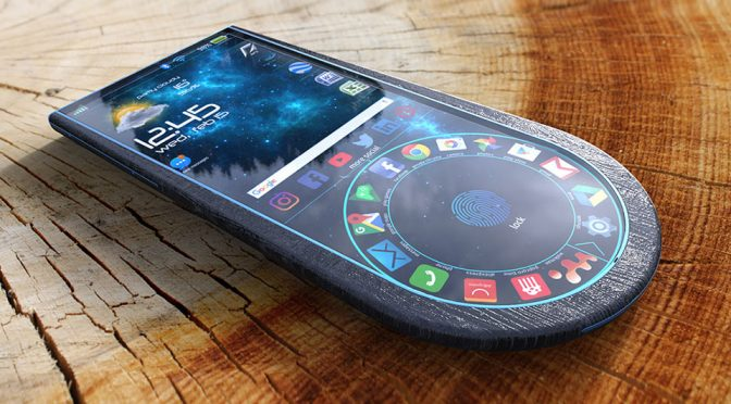 This Bold Circular Bottom Wood Smartphone Is What Phone Should Be