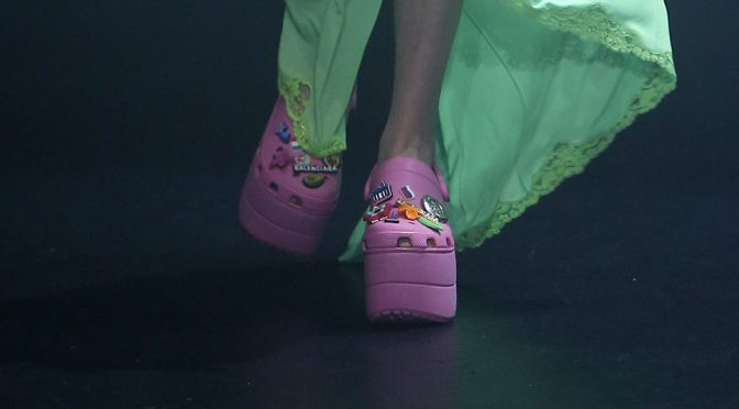 Balenciaga Crocs Foam Platform Sandals Are A Thing Now