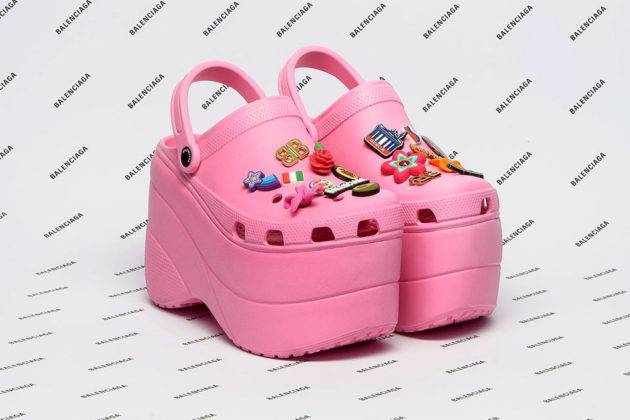 Balenciaga Crocs Foam Platform Sandals Are A Thing Now