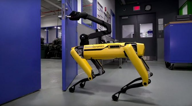 Boston Dynamics SpotMini Robotic Dog Now Knows How To Open Doors