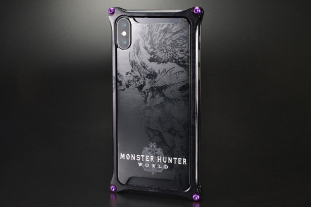 Capcom x GILD Design Monster Hunter World Nergigante Black iPhone Case