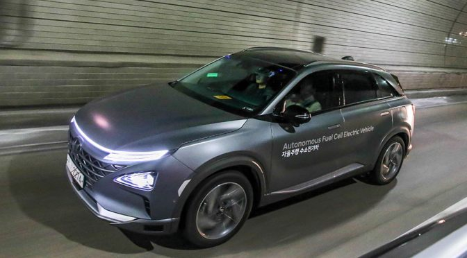 Hyundai Fuel Cell Electric Vehicles Drove Itself To PyeongChang