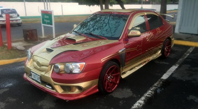 We Can't Help But To Cringe At This Over-modded Elantra With <em>Iron Man</em>-inspired Paint Job