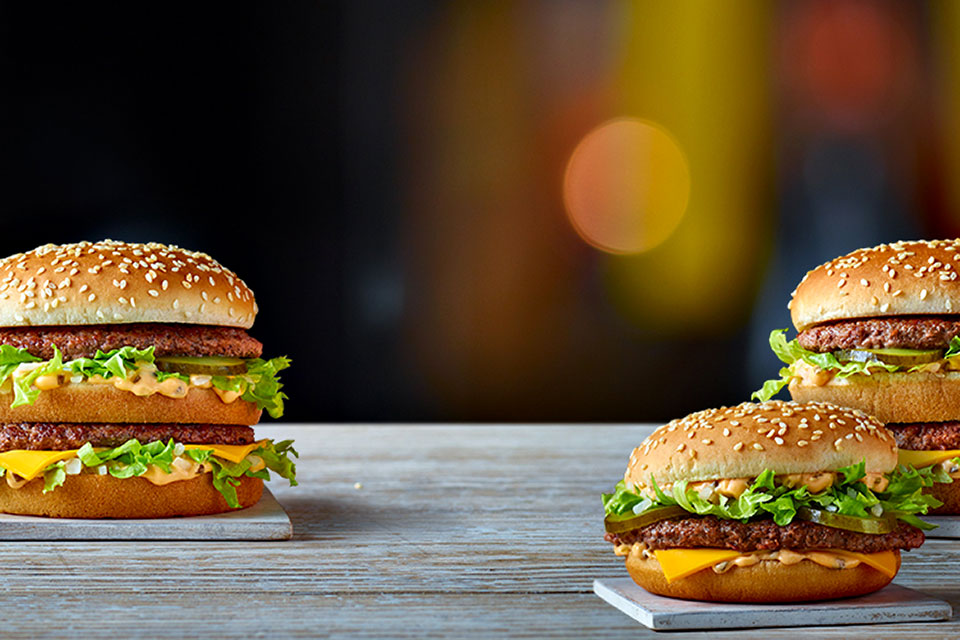 McDonald's Grand Big Mac and Mac Jr Burgers