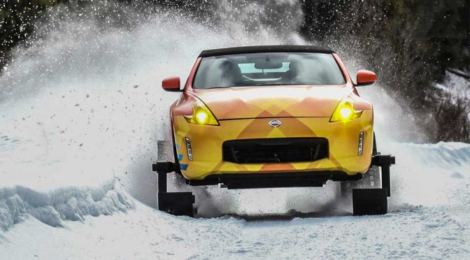 Nissan Replaces A 370Z's Wheels With Skis And Tracks, Calls It 370Zki