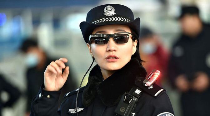 Police in China Uses High-tech Facial Recognition Glasses To Nab Fugitives