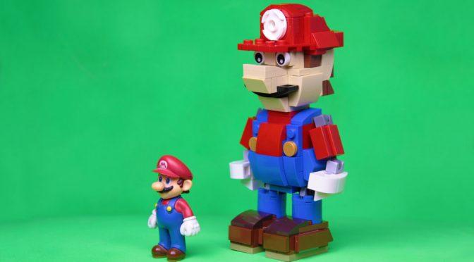 Posable LEGO Mario MOC by hachiroku24