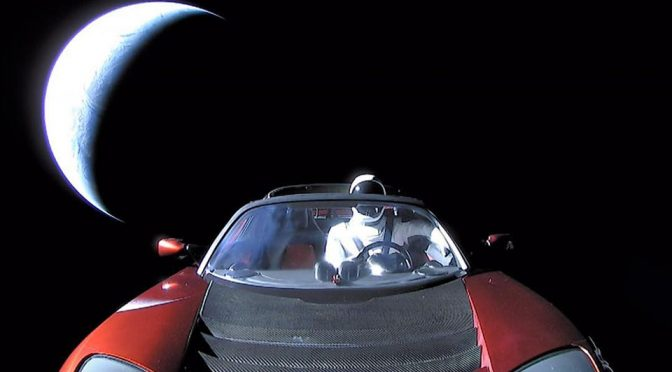 Tesla Roadster Became The First Roadster To Travel The Space