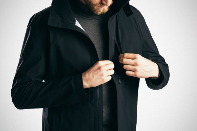 The Styrman Ultralight Raincoat by Mission Workshop