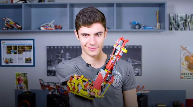 This Is David, The Teen Who Built His Own Prosthetic Arm With LEGO