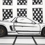 Artist Turned An Acura NSX Into A Drawing Of Itself With A Wrap