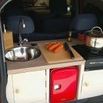 Kiwi Dude Cramped A Tiny, Working Kitchen Inside A Peugeot iOn's Trunk