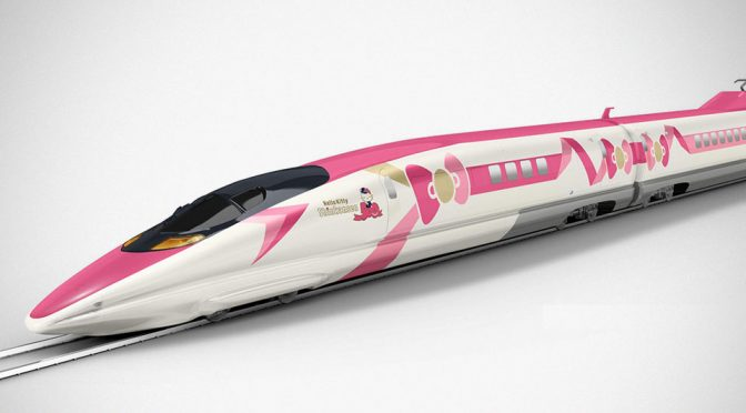 JR West Hello Kitty-themed Shinkansen