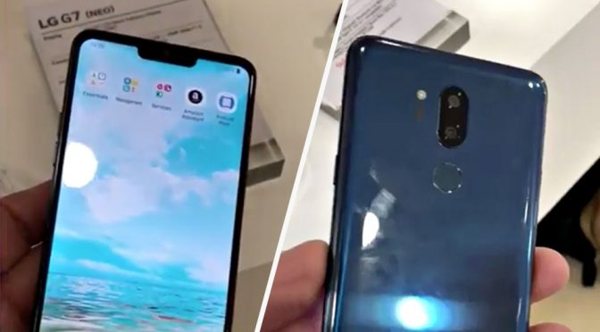 Oh, Look, LG's Into The Notch Too As Shown By This Purported LG G7 Device