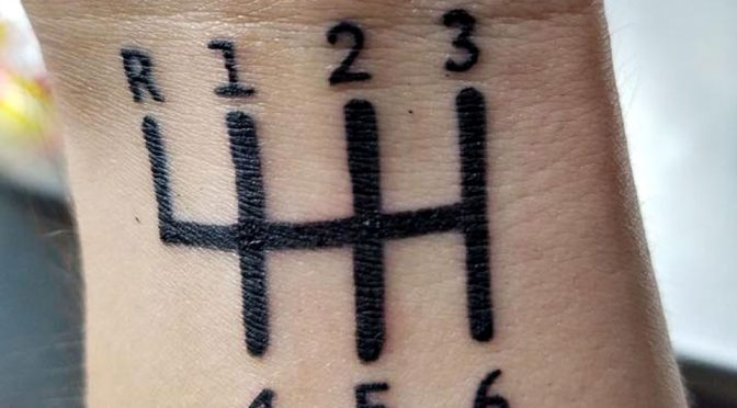 Tattoo of H-gate Stick Shift Went Viral for the Wrong Reason