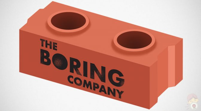 The Boring Company Life-size LEGO-like Bricks