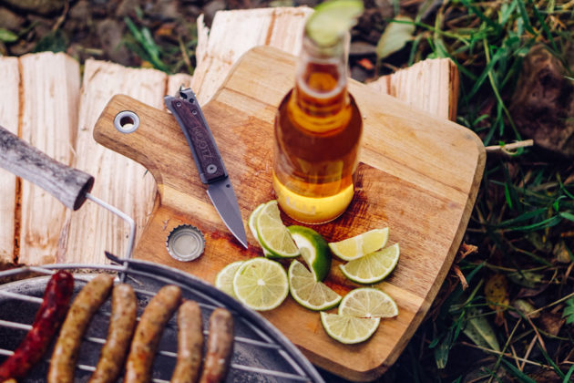 Wootz EDC Pocket Knife with Bottle Opener